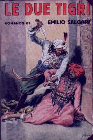 Book cover of The Two Tigers by Emilio Salgari.