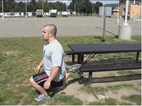 Bulgarian split squat body weight workout exercise.