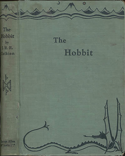 Book cover of The hobbit by J. R. R. Tolkien.