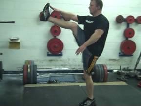 tin men bodyweight exericse routine leg raised