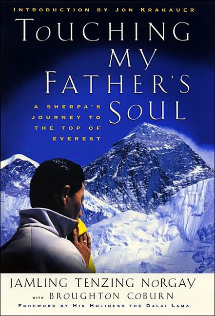 Book cover of Touching My Father's Soul by Tenzing Norgay.