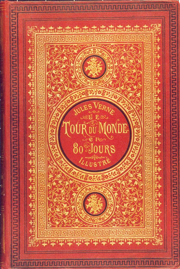 Book cover of Tour Around the World in Eighty Days by Jules Verne.