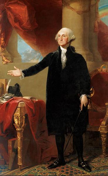 George Washington painting full body portrait.