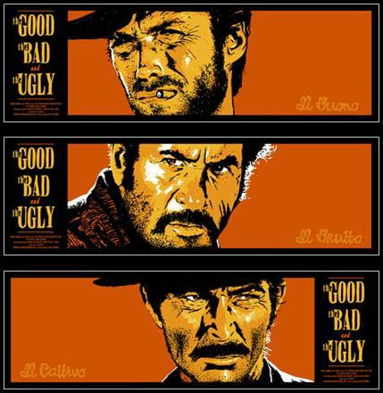 The Good, the Bad, and the Ugly movie poster.