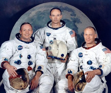 Apollo 11 Astronauts Armstrong,Collins and Aldrin portrait.
