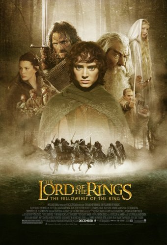 Lord of the Rings movie cover.