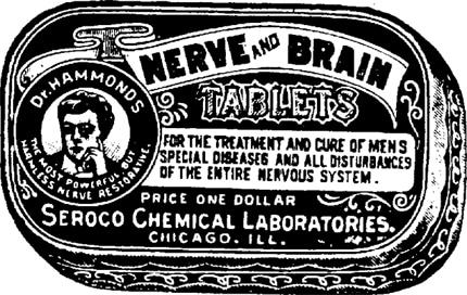 dr hammonds nerve and brain tablets late 1800s