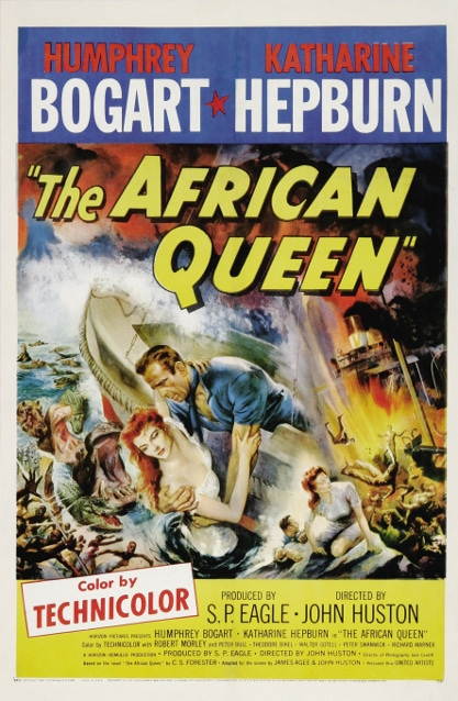 The African Queen movie poster.