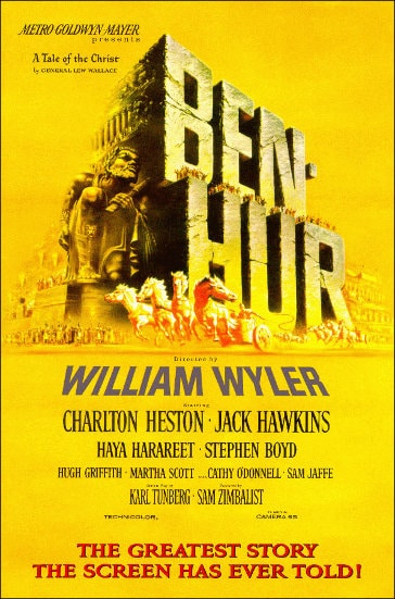 Ben Hur movie poster.