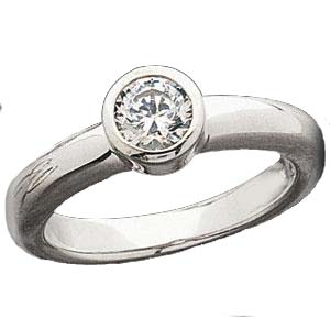 bezel setting diamond engagement ring style