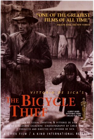 Movie The Bicycle Thief poster.