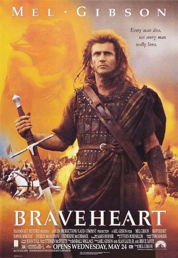 Braveheart movie poster.