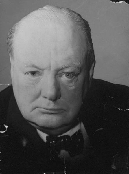 winston churchill head shot intense face