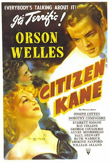 Citizen Kane movie poster.