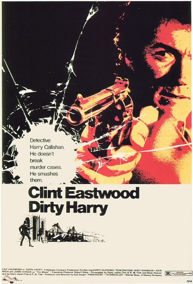 Poster of a move Dirty Harry.