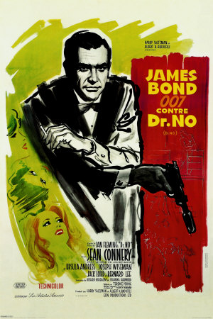 Dr. No movie poster.