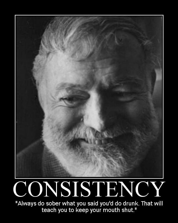 Motivational Posters: Ernest Hemingway Edition | The Art of Manliness