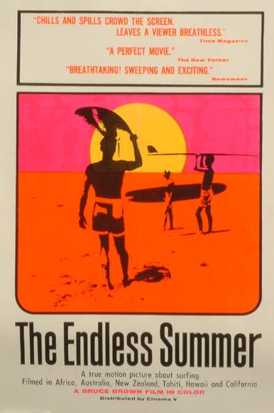 Cover of a documentary called The Endless Summer.