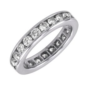 eternity band setting diamond engagement ring
