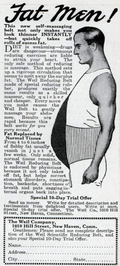 weil belt fat loss belly reducer vintage ad