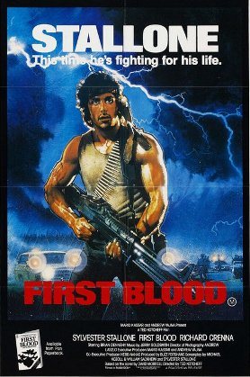 First Blood movie cover.