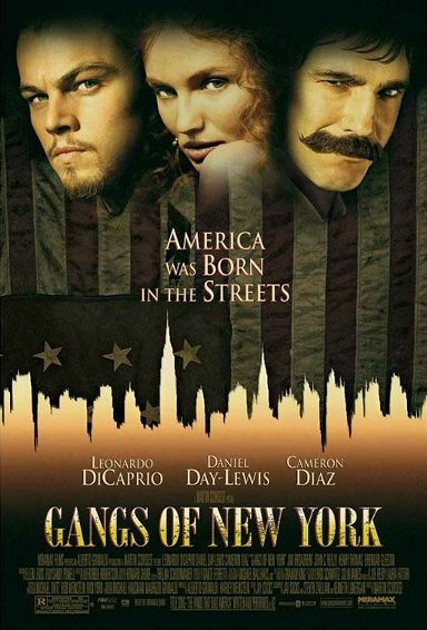 Gangs of New York movie cover.