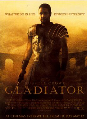 Gladiator movie cover.