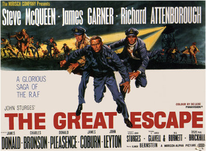 A poster of a movie The Great Escape.
