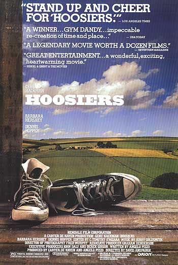 Hoosiers movie poster.