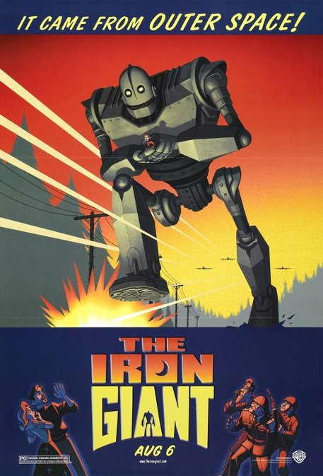 The Iron Giant movie poster.