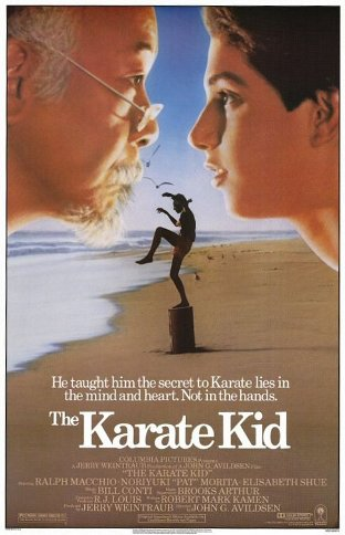 The Karate Kid movie poster.