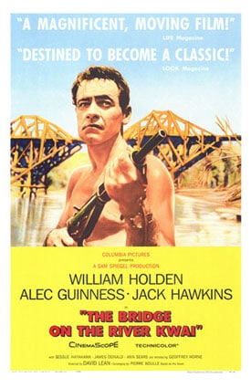 Bridge On the River Kwai movie poster.