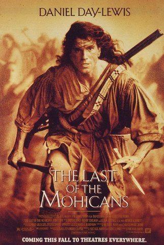 Last of the Mohicans movie poster.