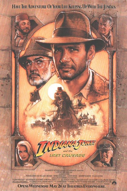 Indiana Jones movie poster.