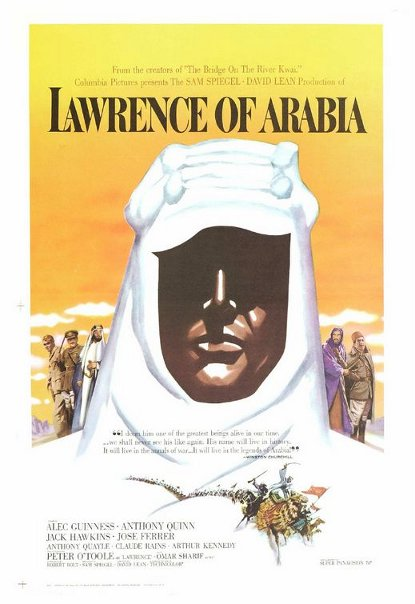 Lawrence of Arabia movie cover.
