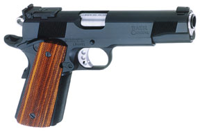 Les Baer Premier II 1911 handgun for home defense.