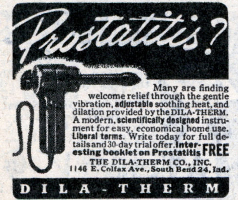 Vintage illustration about Dila-Therm Prostatitis men's product.