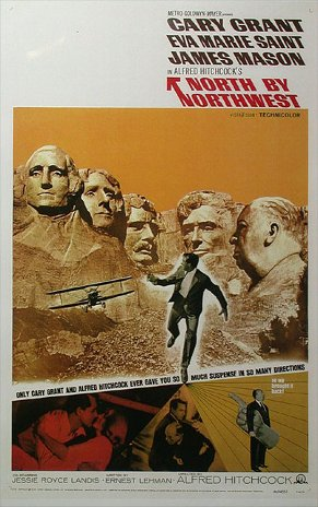 North by Northwest movie cover.