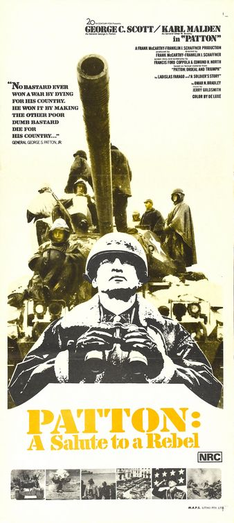 Patton movie cover.