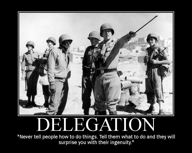 Motivational quote about Delegation by General Patton.