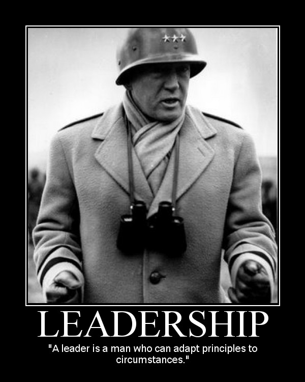 general george patton leadership quote motivational poster