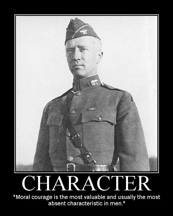 general george patton moral courage quote motivational poster