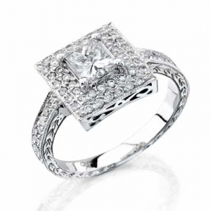 pave' setting diamond engagement ring style