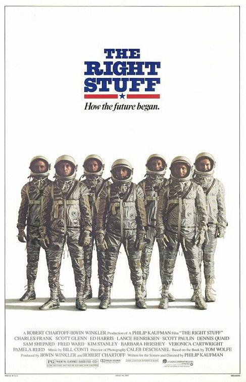 The Right Stuff movie poster.