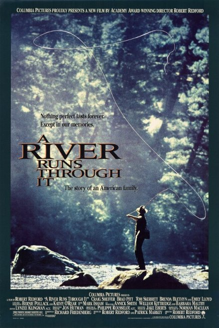 A River Runs Through It movie poster.