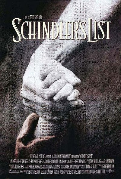 Poster from a movie Schindler's List.