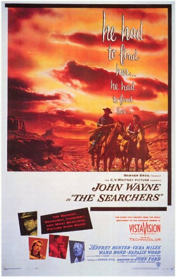 The Searchers movie poster.