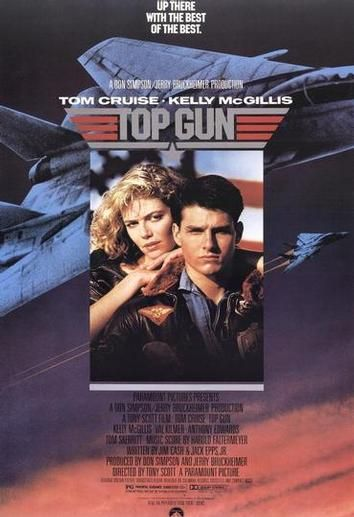 Top Gun movie poster.