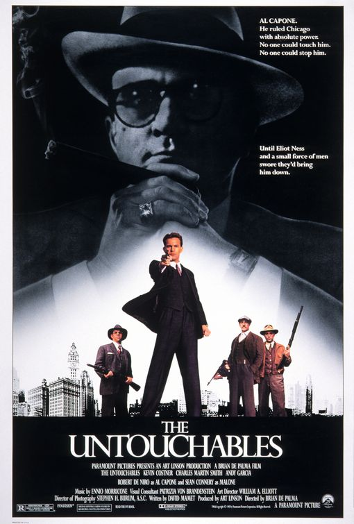 The Untouchables movie poster.