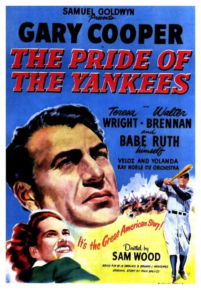 Pride of the Yankees movie poster.
